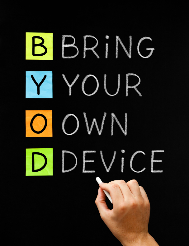 BYOD Bring your own device, mobile working
